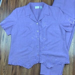 Alfred Dunner Lavender pant suit 18W 20W